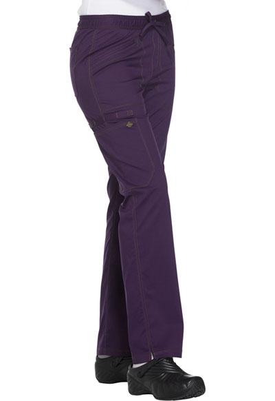 c0dffe96e89 Photograph of Essence Women's Mid Rise Straight Leg Drawstring Pant Purple  DK106P-EGG