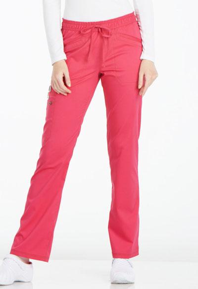 d9ab944e840 Photograph of Essence Women's Mid Rise Straight Leg Drawstring Pant Pink  DK106P-HPKZ