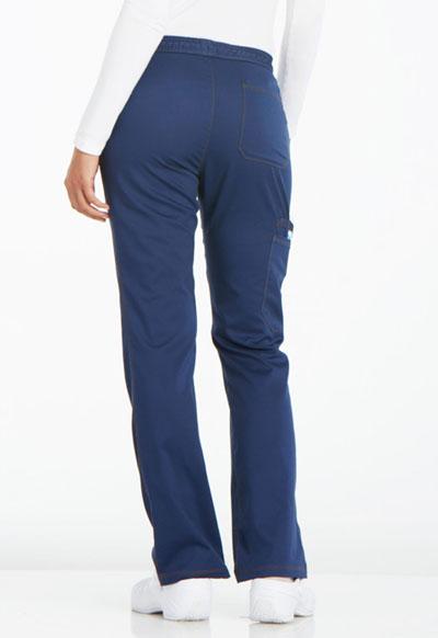 705c0fe769f Photograph of Essence Women's Mid Rise Straight Leg Drawstring Pant Blue  DK106P-NAV
