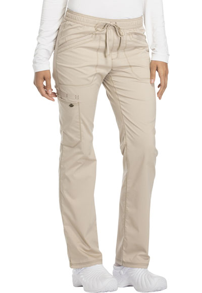 Dickies Essence Women's Mid Rise Straight Leg Drawstring Pant Khaki