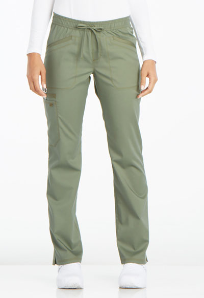 Essence Women's Mid Rise Straight Leg Drawstring Pant Green