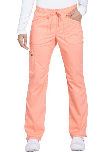 Essence Women Mid Rise Straight Leg Drawstring Pant Orange