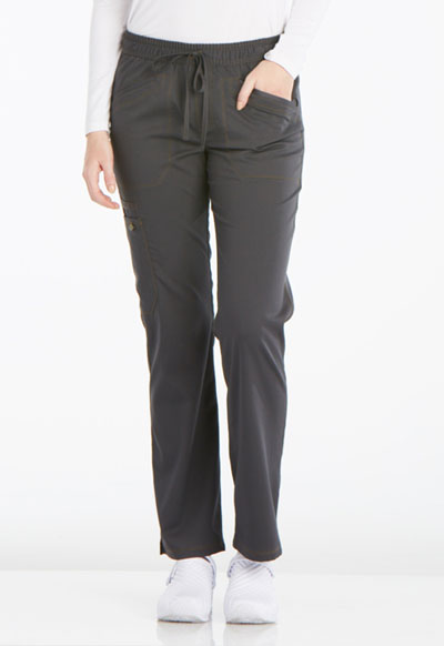 Dickies Essence Women's Mid Rise Straight Leg Drawstring Pant Gray