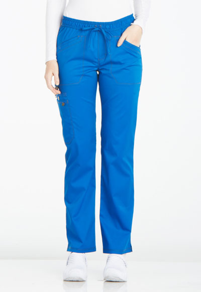 Dickies Essence Women's Mid Rise Straight Leg Drawstring Pant Blue