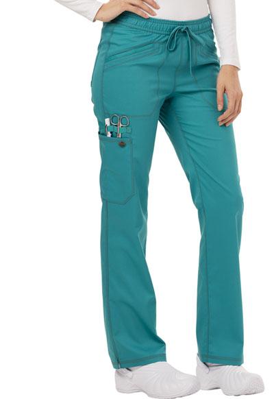 e48948a9019 Photograph of Essence Women's Mid Rise Straight Leg Drawstring Pant Blue  DK106-TLB