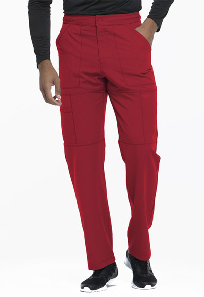 Dynamix Men's Men's Zip Fly Cargo Pant Red