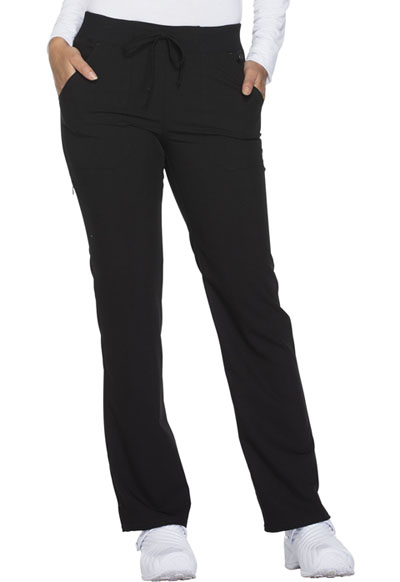 Xtreme Stretch Women's Mid Rise Straight Leg Drawstring Pant Black