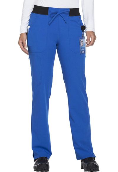 Xtreme Stretch Women's Mid Rise Straight Leg Drawstring Pant Blue