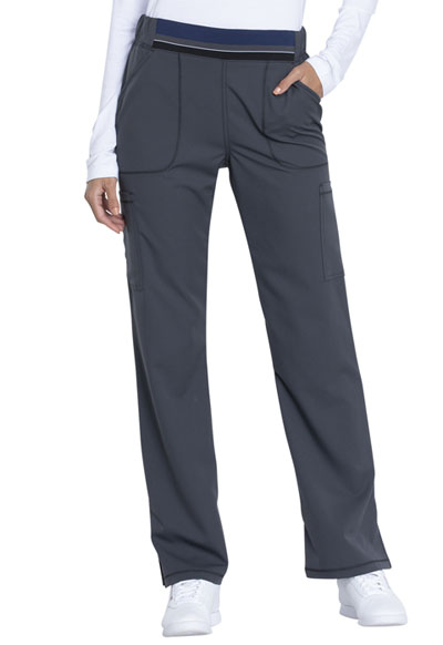 Dickies Dynamix Women's Mid Rise Moderate Flare Leg Pull-on Pant Gray