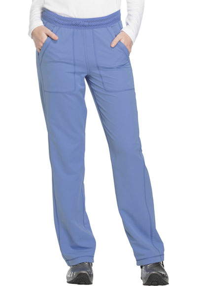Dynamix Women's Mid Rise Straight Leg Pull-on Pant Blue
