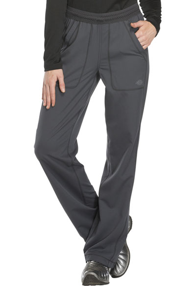 Dickies Dynamix Women's Mid Rise Straight Leg Pull-on Pant Gray