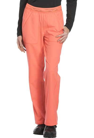 Dickies Dynamix Women's Mid Rise Straight Leg Pull-on Pant Orange