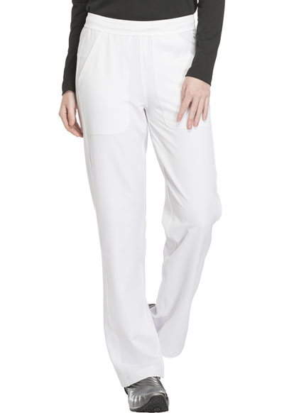 Dickies Dynamix Women Mid Rise Straight Leg Pull-on Pant White