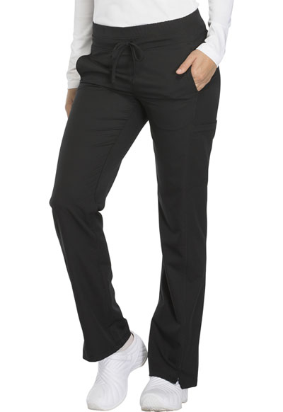 Dickies Dynamix Women's Mid Rise Straight Leg Drawstring Pant Black