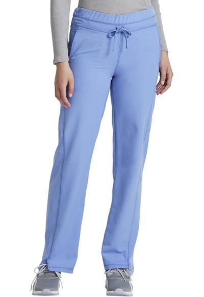 Dickies Dynamix Women's Mid Rise Straight Leg Drawstring Pant Blue