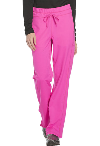 Dickies Dynamix Women's Mid Rise Straight Leg Drawstring Pant Pink