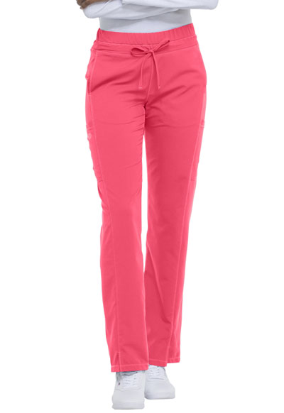 Dynamix Women's Mid Rise Straight Leg Drawstring Pant Red