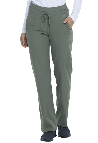 Dickies Dynamix Women's Mid Rise Straight Leg Drawstring Pant Green