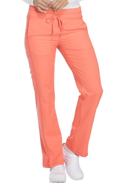 Dynamix Women's Mid Rise Straight Leg Drawstring Pant Orange