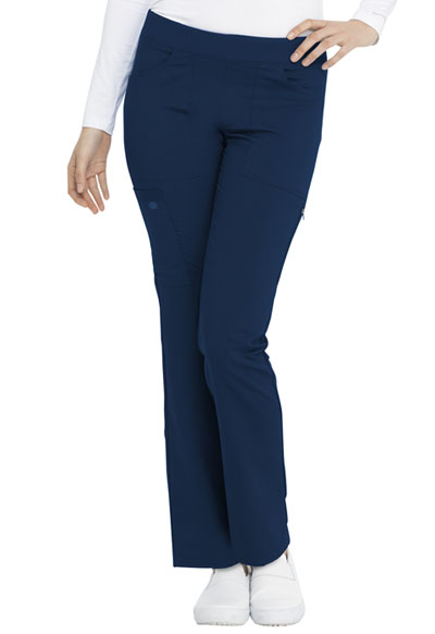 Dickies Balance Women Mid Rise Tapered Leg Pull-on Pant Blue