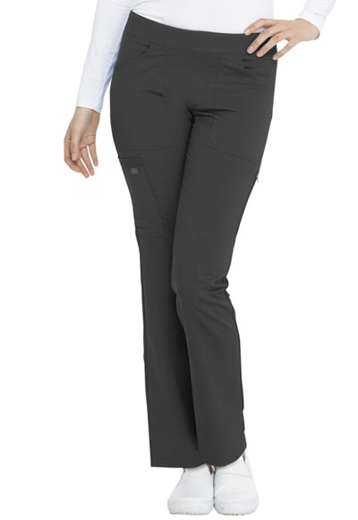 Dickies Balance Women's Mid Rise Straight Leg Pull-on Pant Gray