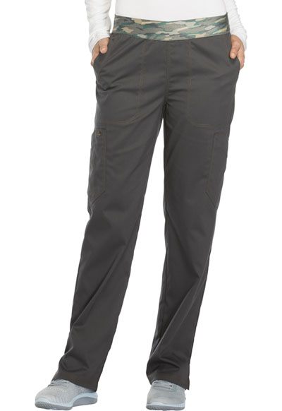 Essence Women Mid Rise Tapered Leg Pull-on Pant Gray