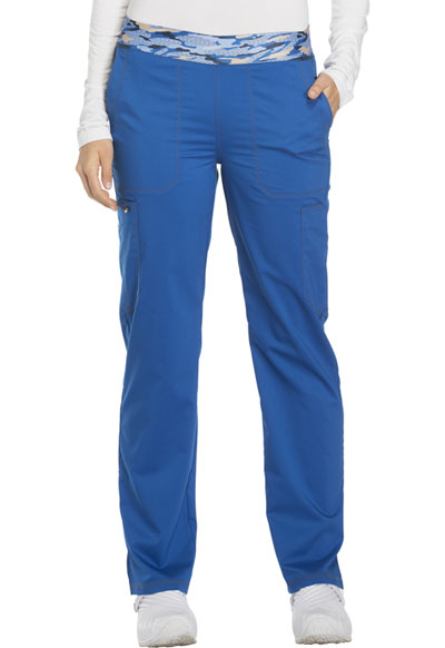 Dickies Essence Women's Mid Rise Tapered Leg Pull-on Pant Blue