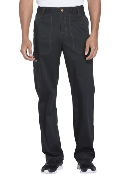 Essence Men's Men's Drawstring Zip Fly Pant Black