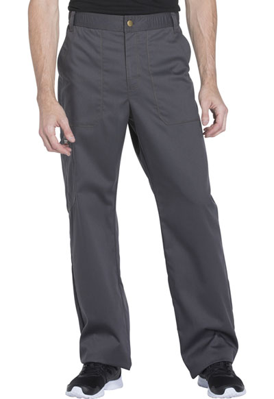Essence Men's Men's Drawstring Zip Fly Pant Gray