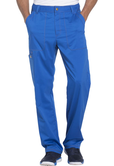 Essence Men's Men's Drawstring Zip Fly Pant Blue