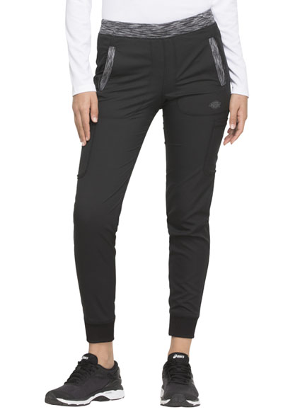 Dickies Dynamix Women Natural Rise Tapered Leg Jogger Pant Black