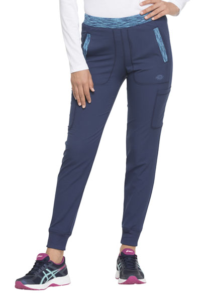 Dynamix Women's Natural Rise Tapered Leg Jogger Pant Blue