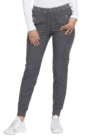 Dynamix Women's Natural Rise Tapered Leg Jogger Pant Gray
