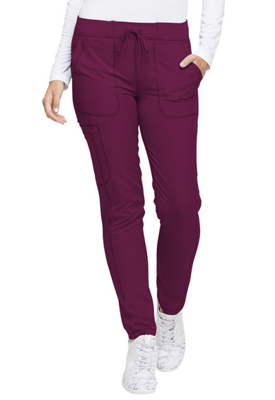 Dickies Dynamix Women Natural Rise Skinny Drawstring Pant Red