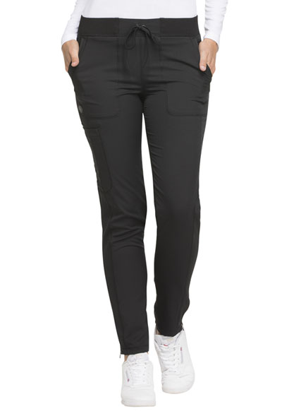 Dickies Dynamix Women Natural Rise Skinny Drawstring Pant Black