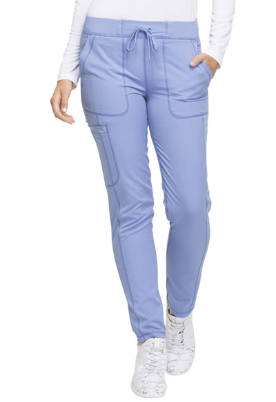 Dynamix Women's Natural Rise Skinny Drawstring Pant Blue