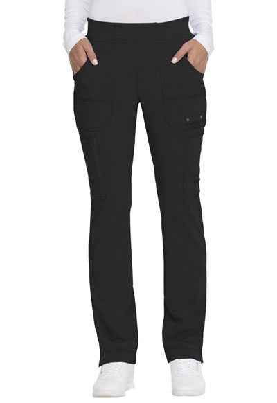 Advance Women's Mid Rise Tapered Leg Pull-on Pant Black