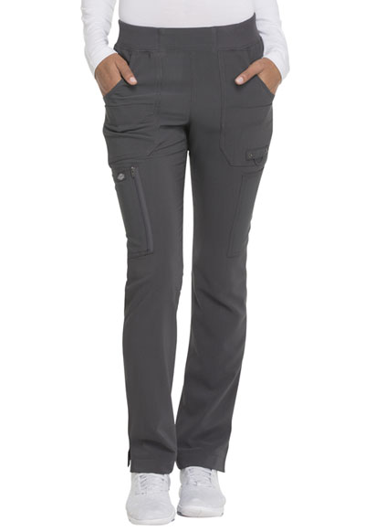 Advance Women Mid Rise Tapered Leg Pull-on Pant Gray
