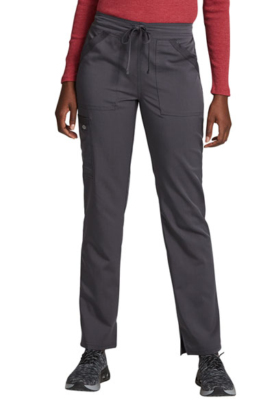 Dickies Balance Women Mid Rise Tapered Leg Drawstring Pant Gray