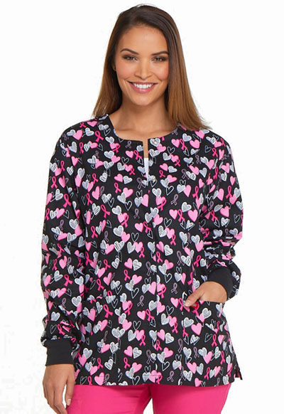 Dickies Prints Women's Snap Front Warm-Up Jacket Hope In My Heart