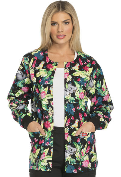 Dickies Prints Women's Snap Front Warm-Up Jacket Just Hanging Around