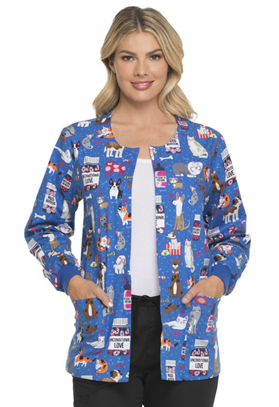 Dickies Prints Women's Snap Front Warm-Up Jacket Unconditional Love