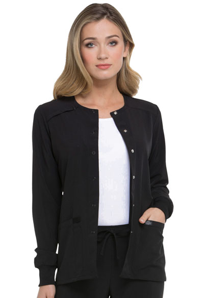 Every Day EDS Essentials Women Snap Front Warm-up Jacket Black