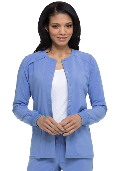 Every Day EDS Essentials Women Snap Front Warm-up Jacket Blue