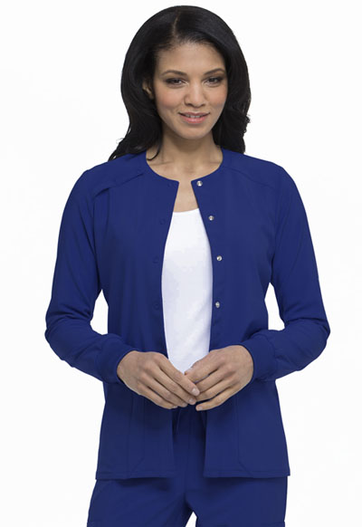 EDS Essentials Women's Snap Front Warm-up Jacket Blue