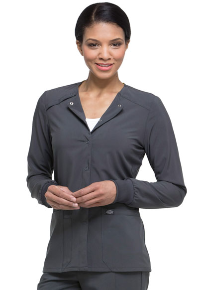 Every Day EDS Essentials Women's Snap Front Warm-up Jacket Gray
