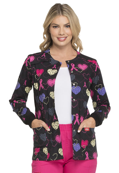 Dickies Prints Women's Snap Front Warm-Up Jacket Cosmic Caring