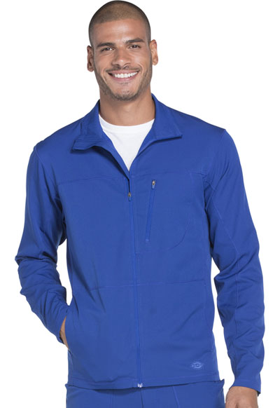 Dynamix Men's Men's Zip Front Warm-up Jacket Blue