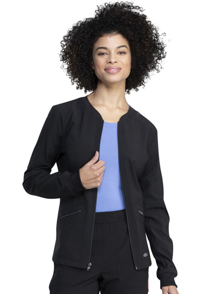 Retro Women Warm-up Jacket Black