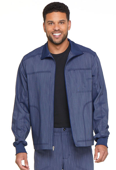 Advance Men's Men's Zip Front Moto Jacket Blue